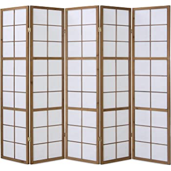 3 fach Paravent Raumteiler Trennwand Japan Shoji tabak Reispapier Homestyle4u