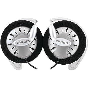 Koss KSC75 Portable Stereophone Headphones, Single, Standard Packaging White/Gray