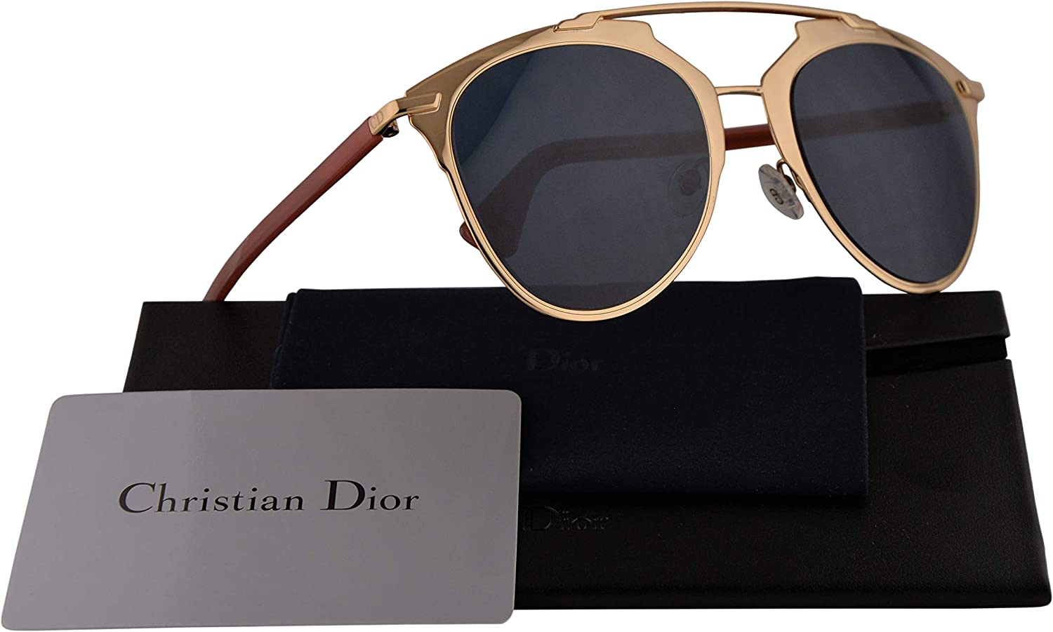 Christian DiorReflected Sunglasses pink gold w bluee Avio Lens TUZKU Dior Reflected