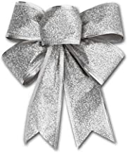 CHDHALTD 10 Pack Christmas Bow for Santa Decorations, Gifts & Presents Wrapping, Hanging Door Decor with Wire, Christmas T...