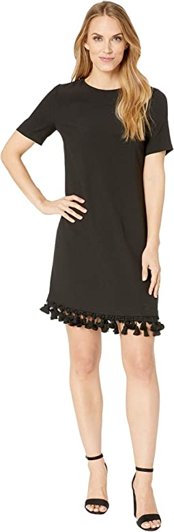 Short T-Shirt Dress w/ Bottom Tassels