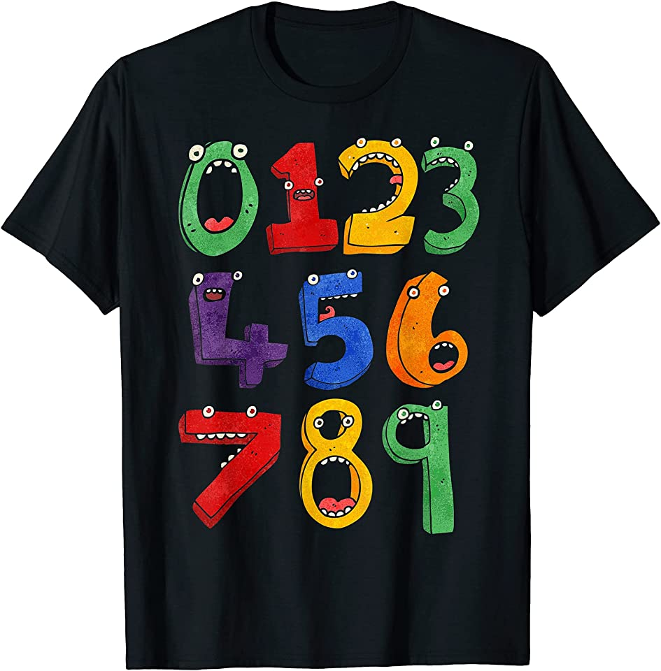 3d Funny Numbers day maths T-Shirt