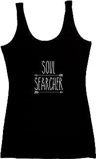TREELANCE Organic Cotton Yoga Workout Tank Top Spiritual Moon Shirts Tops Tees for Women