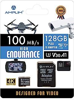 High Endurance 128GB MicroSDXC Card for Video Monitoring Cameras - Dash Cam, Body Cam, Surveillance Cam, Home Security Ca...