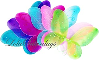 LOLASATURDAYS 6 Pack Assorted Fairy Wings (12