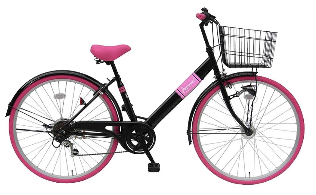 クラフト柔らかい足芸術Lupinusルピナス 自転車 26インチ LP-266VTA シティサイクル LEDオートライト シマノ製外装6段ギア カラータイヤ 100%完成車
