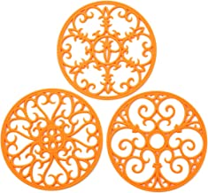 Silicone Trivet Mat - Non-Slip & Heat Resistant Kitchen Hot Pads for Countertops & Table - Kitchen Trivets for Hot Dishes ...