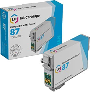 LD Products Remanufactured Ink Cartridge Replacement for Epson T087220 ( Cyan )
