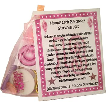 13th Birthday Gift Gift And Card Keepsake Novelty Survival Kit Amazon Co Uk Office Products