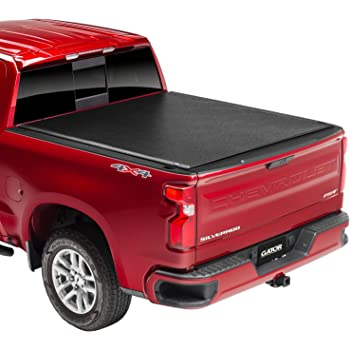"Gator ETX Soft Roll Up Truck Bed Tonneau Cover | 53109 | Fits 2014 - 2018, 2019 Ltd/Lgcy GMC Sierra & Chevrolet Silverado 1500 5'8"" Bed Bed 
