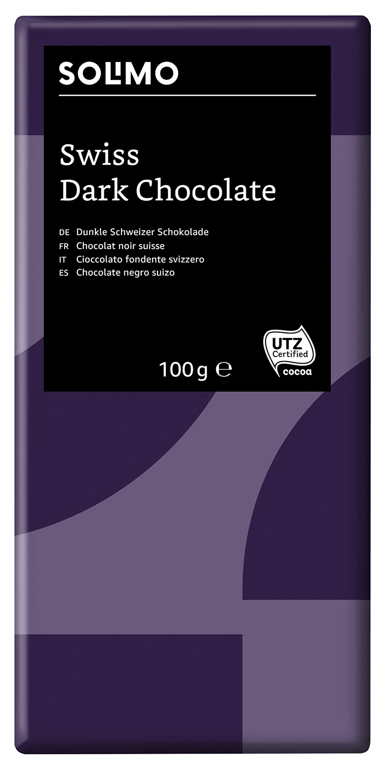 Amazon Brand - Solimo - Swiss Dark Chocolate 45% 1.2 kg (12 bars x 100g each)
