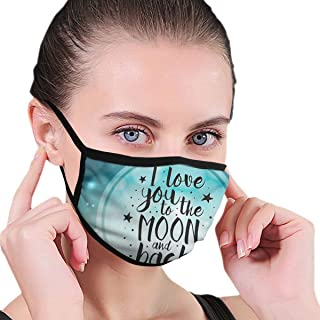 Mouth Masks Love You to The Moon and Back Earloop Mouth Mask - Adjustable Elastic Band for Painting Outdoor, Anti Anti-Dust Respirator, Half Face Mouth Mask/Cover