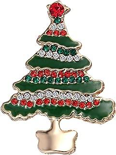BoodTag Christmas Decor Brooches Collar Pin Rhinestone Badge Ornaments Gift