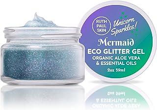 Mermaid Face & Body Glitter: for Women & Girls | Biodegradable Glitter Gel Body Shimmer | Fine Glitter in Aloe Vera Gel Ba...