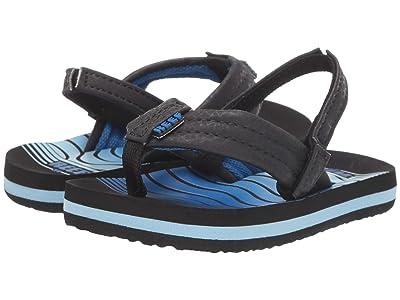 Reef Kids Ahi (Infant/Toddler/Little Kid/Big Kid) (Black/Swellular) Boys Shoes