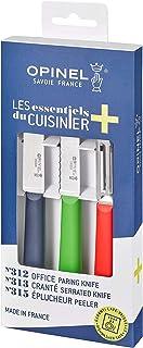 OPINEL - Coffret Trio Les Essentiels + - 1 Couteau Office N°312 Bleu + 1 Couteau Cranté N°313 Vert + Éplucheur N°315 Rouge...