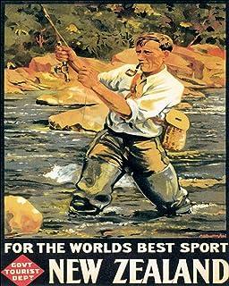 Tennskylt väggdekor 'Fishing Worlds Best Sport metall plåtskylt 20 x 30 cm garage kök matsal väggdekor