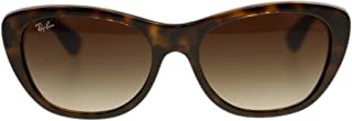 Ray Ban Women Sunglasses RB4227 710/13 Light Havana Brown Lens Square 55mm Authentic