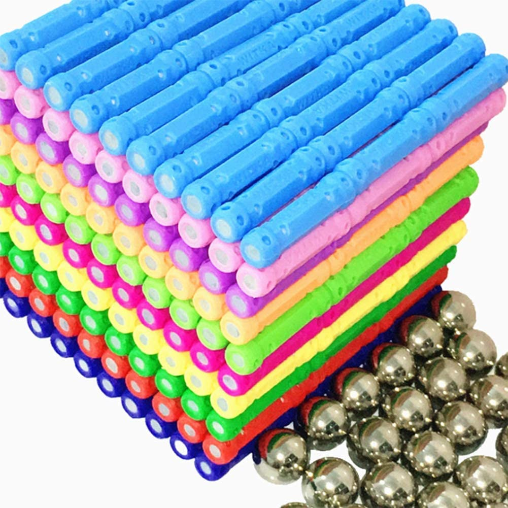 ZXMDP Magnetische bouwblok puzzel Magneet stapelset Magnetische bouwblok geschenken Kinderen magnetische bouwstenen Magnetische bouwblok set puzzel Magnetische Stick Speelgoed A
