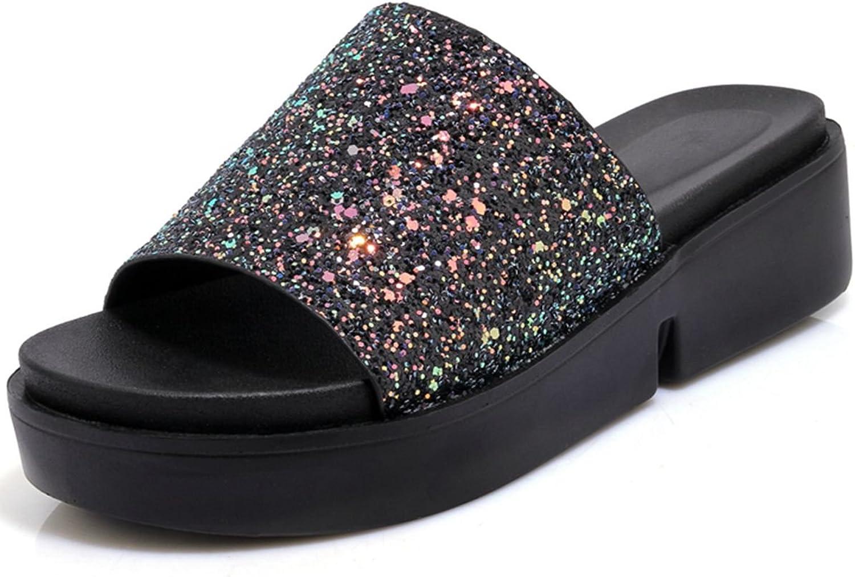 DoraTasia Women's Summer Platform Slides Sandals Casual Flats Slippers
