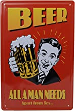 Store2508 Vintage Metal Tin Sign Plaque Wall Art Poster Sheet for Home Cafe Bar Pub Beer (30x20 Cms). (57)