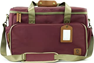 Houndy! Dog's Travel Bag. Large Stylish Waterproof Durable Canvas. Perfect for Traveling, Camping, Outdoors, Carry-on Bag. Plus Two Pet-Safe Food Containers and Two Silicone Bowls.