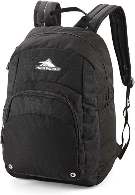 High Sierra 53627 Hiking Backpack, Black, 23 L Capacity