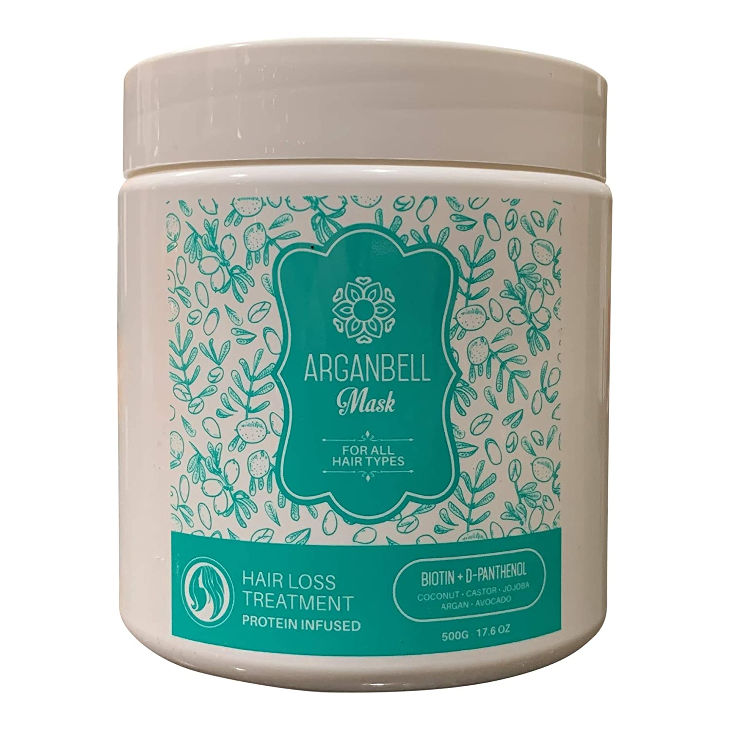 ARGANBELL Mask Hair Super Special SALE held Loss Treatment 16.90 Oz. D- Fl outlet with + Biotin