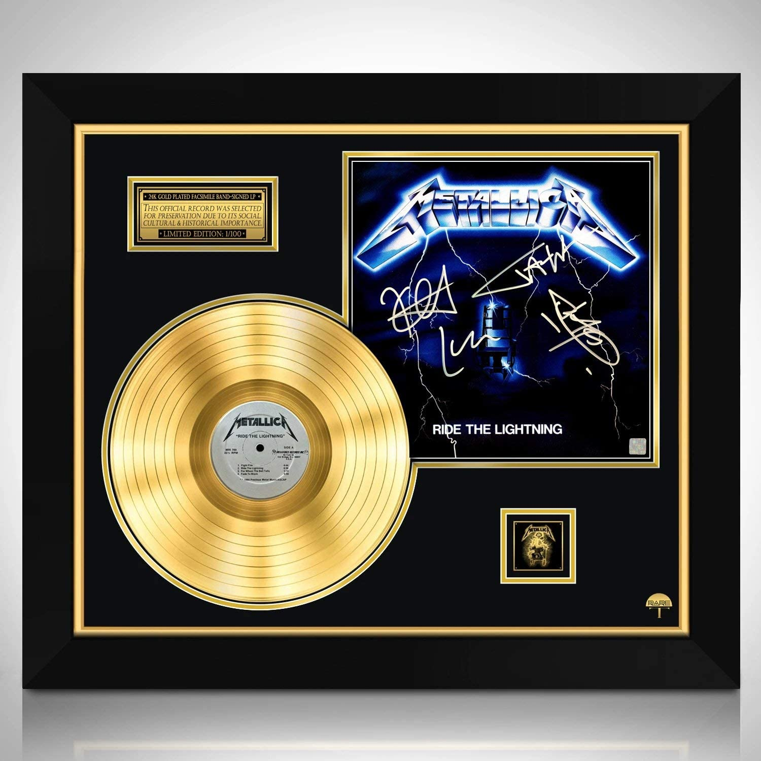 Metallica Ride The Lightning Gold Signature Credence Edition overseas Limited S LP