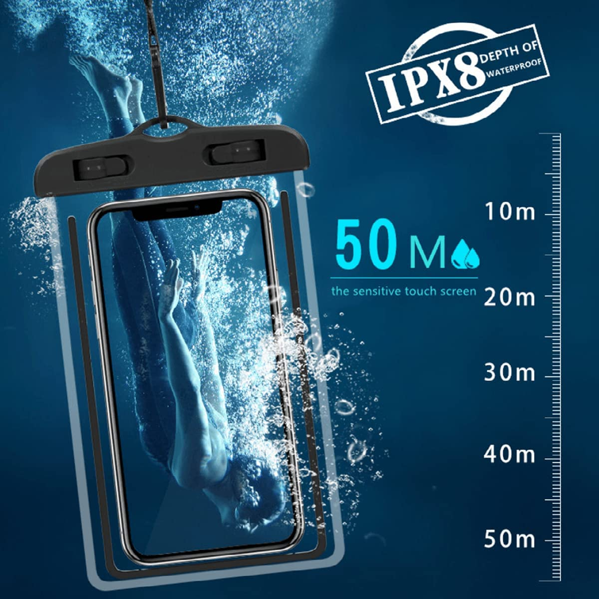 wameay Waterproof Phone Pouch, Universal Waterproof Phone case, Dry Bag Outdoor Beach Bag for iPhone 12 11 8 7 Pro Max SE XR/Samsung Galaxy s21 Note 20/Google Pixel/Moto G7/Oneplus/LG, Samsung(Pink)