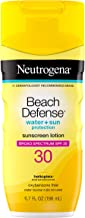Neutrogena Beach Defense Water-Resistant Body Sunscreen Lotion with Broad Spectrum SPF 30, Oil-Free, PABA-Free, Oxybenzone...