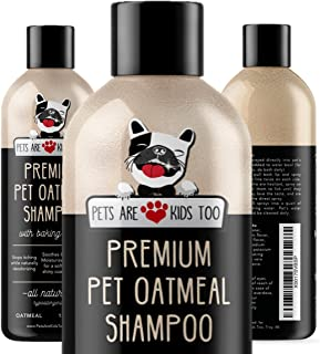 Pet Oatmeal Anti-Itch Shampoo & Conditioner In One! Smelly Puppy Dog & Cat Wash, Natural Ingredients & Hypoallergenic! Relief For Allergies, Itchy, Dry, Irritated Skin!! Smells Amazing! (1 bottle)
