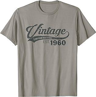 Vintage Est. 1960 61e anniversaire 61 ans Homme Femme T-Shirt