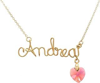 Collar Con Nombre personalizado con alambre chapa de oro Premium - Tutti Joyería - Collar de nombre en chapa de oro Premiu...
