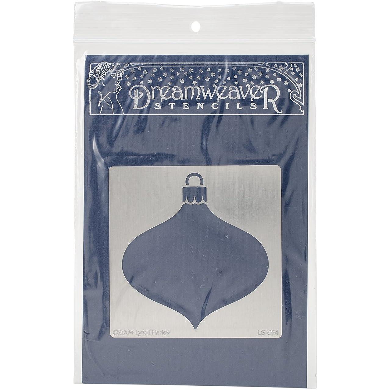 STAMPENDOUS Dreamweaver Metal Stencil, Oval Ornament