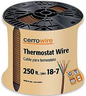 CERRO 210-1007G3 250-Feet 18/7 Thermostat Brown Wire, 250-Foot, 18-Gauge, 7 Ground