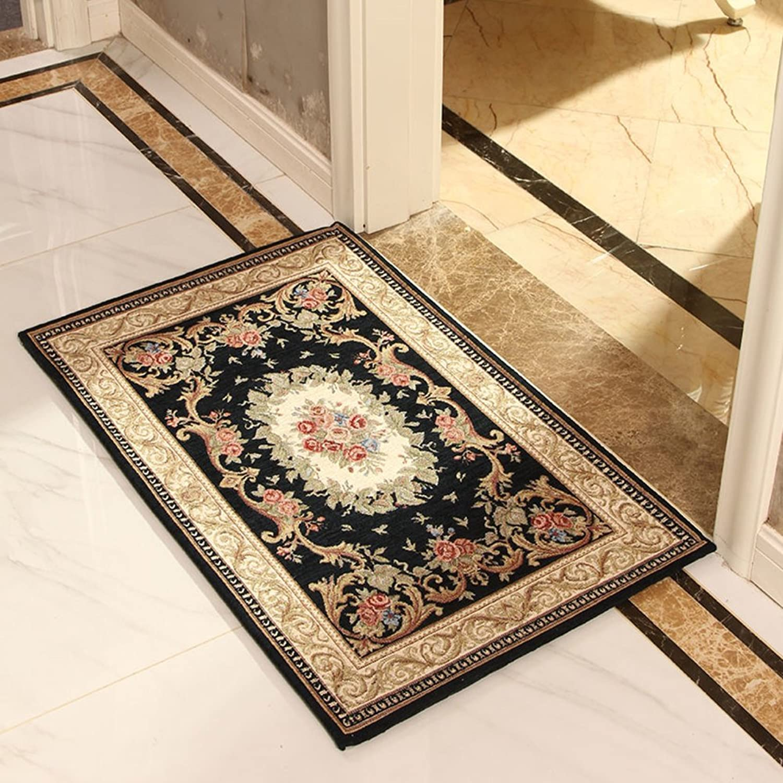 European-Style Floor mats Toilet Bathroom Water-Absorbing Non-Slip mat Bedroom Household mat Lobby Floor mats-F 70x140cm(28x55inch)