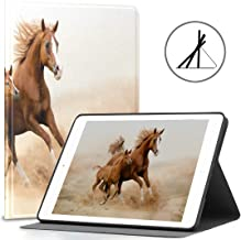 Protective Case for iPad 9.7 Purebred White Arabian Horse in Desert Fit 2018/2017 iPad 5th/6th Generation iPad 9.7 Case fo...