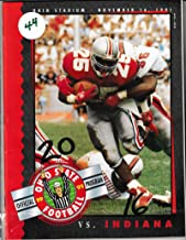 1991 Ohio State vs Indiana Football Program 11/16/1991 Carlos Snow on cover 2 10