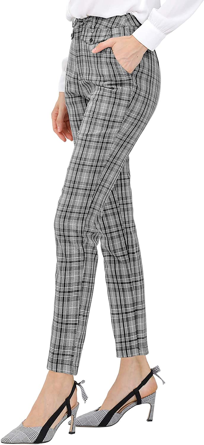 Allegra K womens gift Pant 67% OFF of fixed price Plaid