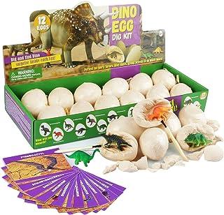 Dig a Dozen Dino Eggs Dig Kit - Easter Egg Toys for Kids,Funny Dinosaur Digging Toy for 3 4 5 6 7 8 9-12 Year Old Boys Arc...