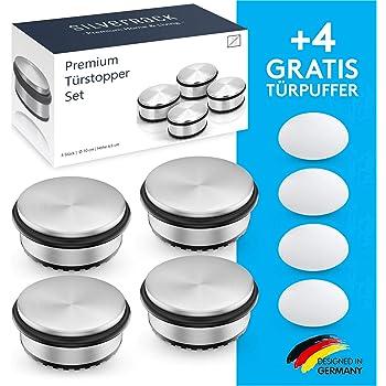 T/ürhalter T/ürstopper Boden massiv 4er Set MIUMEE /® Edelstahl T/ürstopper Edelstahl 4er Set Premium T/ür Stopper Door Stopper