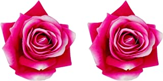 Confidence Hair Flower Clips For Women And Girls Set Of 2 10 Gram Pack Of 1 (Pink White)