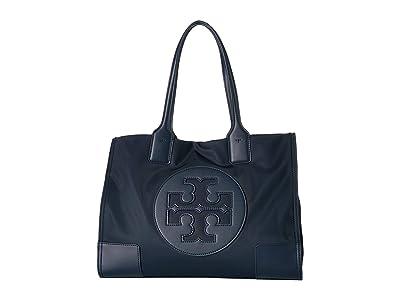 Tory Burch Ella Mini Tote (Tory Navy) Handbags