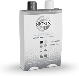 Nioxin System 1 Duo for thicker, fuller-looking hair. For natural, light thinning hair