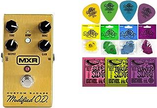 MXR M77 Custom Badass Modified O.D. Overdrive String Bundle w/ 2 free Items: Ernie Ball Guitar Strings, 1 Dozen Dunlop Tortex Picks