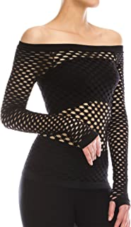 goth fishnet top