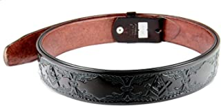 1010006 Genuine Leather Brown Freemason Square Compass Belt Sizes 32-60