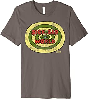Sick Sad World Drippy Text Eye Logo Premium T-Shirt