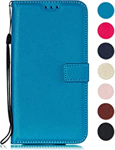 GORASS case for Sony Xperia Compact  Leather Wallet Case Flip Cover with Kickstand Card Holder Card Slots Compatible with Sony Xperia Compact  Blue